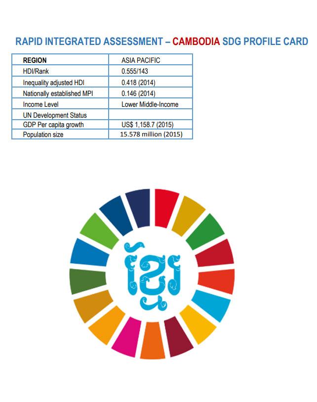 Cambodia SDG Profile Card: Rapid Integrated Assessment